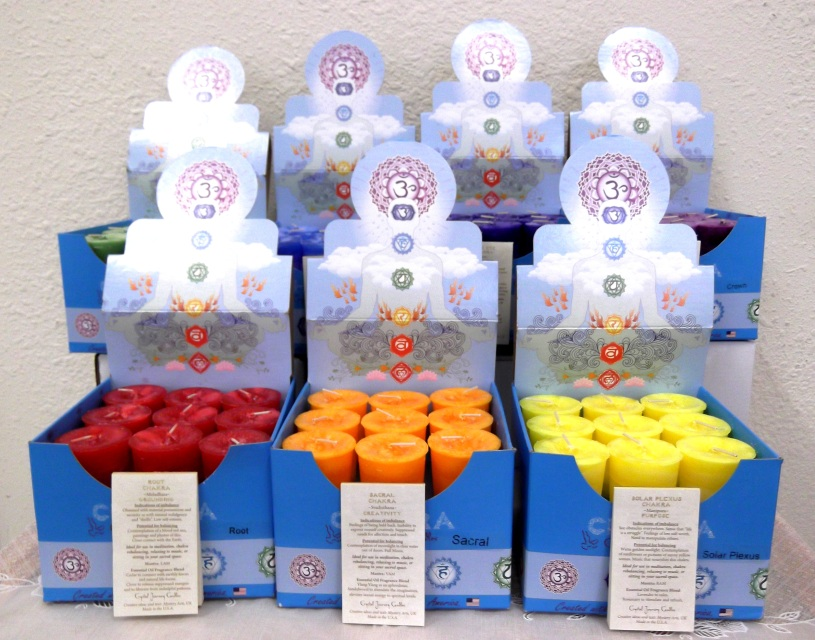 how to make chakra candles